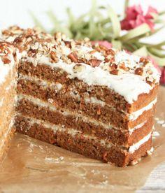 Пирог с морковью (морковный торт) и варианты кремов для него