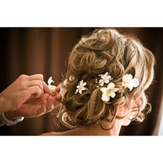 Wedding Hair: Flower Accessories found on Polyvore