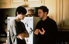 Darren Aronofsky (Director) and Jared Leto on the set of  Requiem for a Dream.