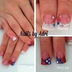 4th of July acrylics