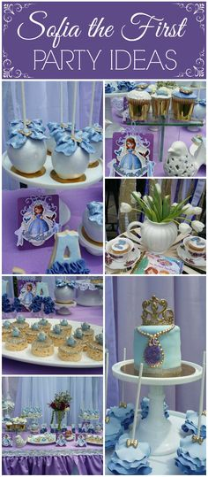 Such a gorgeous purple Sofia the First party! See more party ideas at CatchMyParty.com!