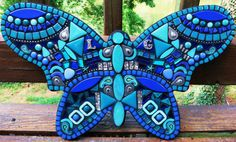 CUSTOM MOSAIC Blue Butterfly