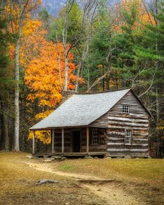 Why You Should Consider Buying a Log Cabin - Rustic Design Small Log Cabin, Little Cabin, Log Cabin Homes, Cozy Cabin, Old Cabins, Tiny Cabins, Cabins And Cottages, Rustic Cabins, Cabin In The Woods