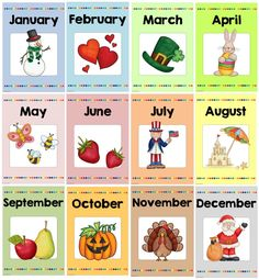 Monatsplakate (Englische Version) Wie versprochen folgen nun noch die Monatsplakate in einer Version für Englisch. Das Paket enthält alle...