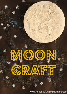 Learn about the night sky by painting and creating a textured moon