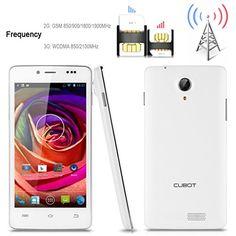 2014 Nuevo CUBOT P10 Android 4.2 5'' MTK6572 Dual Core 1,2 GHz 8MP cámara RAM 1GB ROM de 8 GB desbloqueado Quad WCDMA GPS QHD capacitiva Smartphone (blanco)