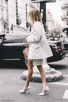 All-white and some cool proportion play with the layering. x