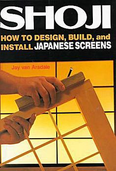 """Shoji- How to Design, Build, and Install Japanese Screens"" $23.95.    A Chopa Zen Home Best-Seller! Shoji screens are translucent, wooden lattice panels that will transform light and your space adding a special touch to any room. This insightful book takes you into Japanese style with a complete how-to guide on designing and making shoji for your own home, apartment or office space."