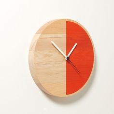 London-based designer David Weatherhead strikes again, having paired up with GOODD for Thorsten van Elten in designing the Primary Clock. Made from solid 3cm Douglas fir with a screenprinted face and a German Quartz time mechanism, it comes in two styles, one with a half circle of color (Half) and the other with segmented blocks of color (Segments). Half can be hung three different ways, displaying the color part either on the bottom, the right side, or at an angle. Each clock is unique ...