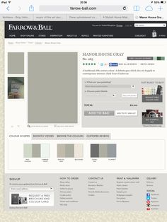 Manor House Gray Neutral Paint Colors, Best Paint Colors, Paint Colors For Home, Cornforth White Hallway, Cornforth White Living Room, Silver Living Room, Elegant Living Room, Farrow And Ball Paint, Farrow Ball