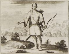 1688 Κρητικός ορεσίβιος με τόξο και φαρέτρα. - DAPPER, Olfert - ME TO BΛΕΜΜΑ ΤΩΝ ΠΕΡΙΗΓΗΤΩΝ - Τόποι - Μνημεία - Άνθρωποι - Νοτιοανατολική Ευρώπη - Ανατολική Μεσόγειος - Ελλάδα - Μικρά Ασία - Νότιος Ιταλία, 15ος - 20ός αιώνας