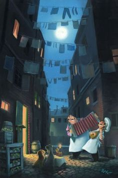 """Disney Fine Art-""""Serenade of the Heart"""" - 18"""" by 12"""" limited Edition"""