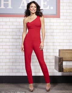 Scene stealer: Bethenny Frankel attempted to blow everybody else away in a sizzling red jumpsuit in promo shots ahead of the April 7 season seven premiere of Real Housewives Of New York City