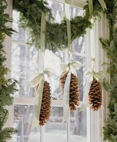 great idea to hand my large Pine cones this year