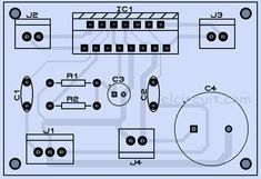 Stereo Power Amplifier circuit by using IC low power output amplifier, wide range voltage supply. You must try this amplifier you can view schematic diagram pcb layout and video assembling and testing amplifier. Simple Electronics, Hobby Electronics, Electronics Projects, Circuit Board Design, Electronic Circuit Projects, Stereo Amplifier, Circuit Diagram, Layout Design, Cable Management