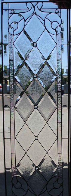 7491a933ccb6 Classic Style Beveled Textured Diamonds (Tudor Style) Stained Glass Window  (We do custom work! Please email me for a quick quote)