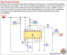 atari punk 8 step sequencer schematic atari punk console another atari punk console schematic
