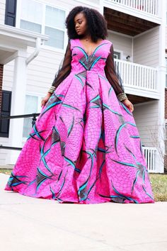 Hi-Low and Maxi Dress Styles. Lined with tulle for extra skirt flare. Multiple Patterns/Colors Available. Check out our Kente crossbody and duffle bags! African American Fashion, African Print Fashion, Africa Fashion, Fashion Prints, African Print Dresses, African Fashion Dresses, African Dress, African Wear, African Style