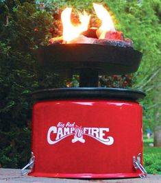 Little Red Portable Propane Campfire Fire Pit Gas Camp