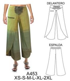 pantalones Sewing Pants, Sewing Clothes, Dance Fashion, Fashion Outfits, Womens Fashion, Dress Sewing Patterns, Clothing Patterns, Crochet Drawstring Bag, Wrap Pants