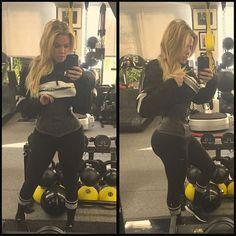 Khloe Kardashian posted a new waist training photo of herself looking disproportionately skinny in her fitness gear on Friday, May 8 -- see her freakish hourglass figure here Estilo Khloe Kardashian, Kardashian Style, Kardashian Jenner, Khloe Kardashian Workout, Kardashian Waist Trainer, Kylie Jenner, Kardashian Photos, Michelle Lewin, Body Inspiration