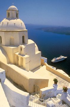 This is one of the most beautiful places ever, Santorinin, Greece. But pin anywhere you want to go.