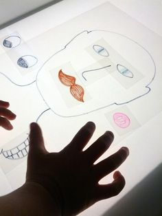 Making funny faces on the light table - And Next Comes L ≈≈