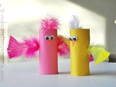 Spring Craft: Cardboard Tube Birds via CraftsbyAmanda.com @amandaformaro