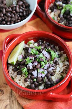 Slow Cooker Chipotle Style  Black Beans @Jeanette | Jeanette's Healthy Living