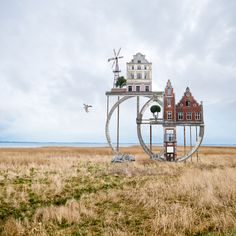 New Architectural Collages That Double as Visual Poems by Matthias Jung