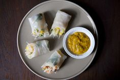 Cambodian-Style Spring Rolls.  I have a lot of rice paper leftover from last week's experiment.  :)