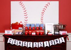 Baseball Party | Concessions Stand | Amy Atlas Events