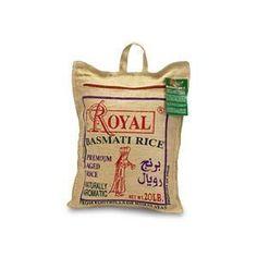 Royal Basmati Rice in Burlap Bag, 10 Pound