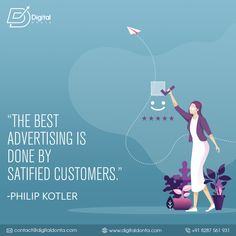 "The father of modern marketing ""Philip Kotler"" says:- Every business or product needs promotion for reaching out to the consumers. The best advertising strategy is created to fulfill this purpose. Top Digital Marketing Companies, Content Marketing Strategy, Search Optimization, Advertising Strategies, Best Seo Services, Best Seo Company, Reputation Management, Competitor Analysis, Branding"