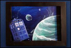 Tardis shadowbox 3d painting at https://www.etsy.com/listing/219092342/doctor-who-tardis-3d-shadowbox-canvas