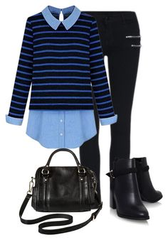 """Stripes"" by burtiva ❤ liked on Polyvore featuring Merona, women's clothing, women, female, woman, misses and juniors"