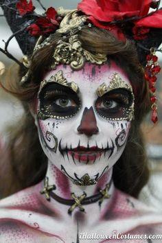 beautiful sugar skull makeup for Halloween » Halloween Costumes 2013
