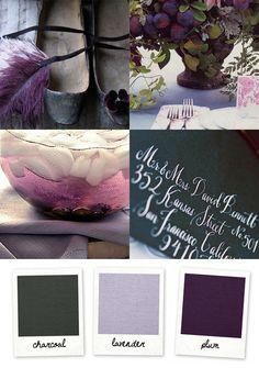 charcoal - plum - lavender palette
