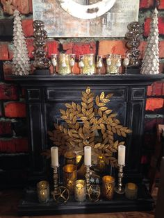 Mantle Decor For New Years Eve From Trees N Trends