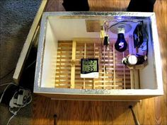 Homemade Incubator with Fan, Thermostat, and Automatic Egg Turner - YouTube