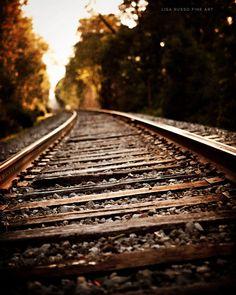 Rustieke Wall Decor industriële Decor Railroad door LisaRussoFineArt