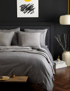 темная спальня black bedroom