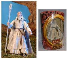 Lord of the Rings Gandalf the White Figure - Original Two Towers Box Packaging by Toy Biz. $35.95. rare and hard to find. factory sealed in original box. rare action figure from toybiz