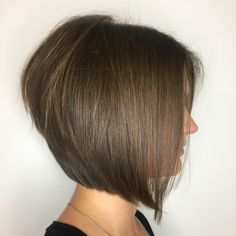 Classy Stacked Brown Bob