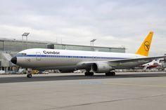 Condor aircraft in retro livery