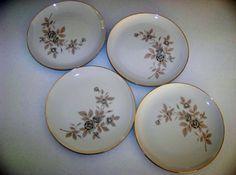 Mikasa Rosecrest Fine China Set Of Four Dinner Plates