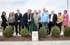 Unveiling by the Mayor of Ipswich, Councillor Hamil Clarke, and Andrei Costache at Futura Park