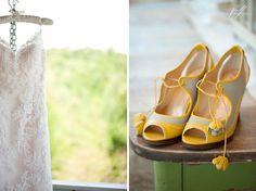 Bridal gown and shoes. Bh Photography