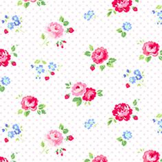 Pam Kitty Garden Floral Pink