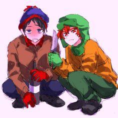 South Park Anime, South Park Fanart, Stan South Park, Kyle Broflovski, Anime Version, Love My Kids, Cartoons, Fandoms, Fan Art